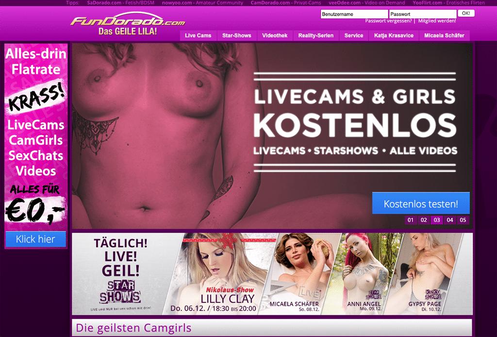 Fundorado ist eine riesige deutsche Erotikseite aus dem Premium-Bereich mit einer Flatrate - und somit einzigartig!