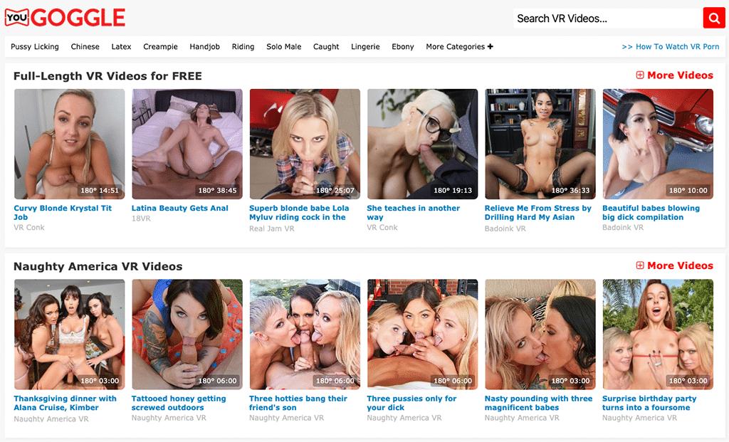 Täglich neue Virtual Reality Pornos gibt es bei YouGoggle zu finden