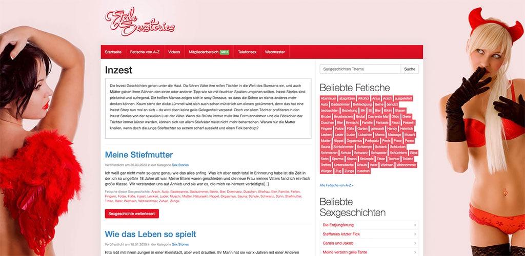 Deutsche Inzestgeschichten zwischen Mutter und Sohn oder Vater und Tochter gibt es auch auf geilesexstories.net