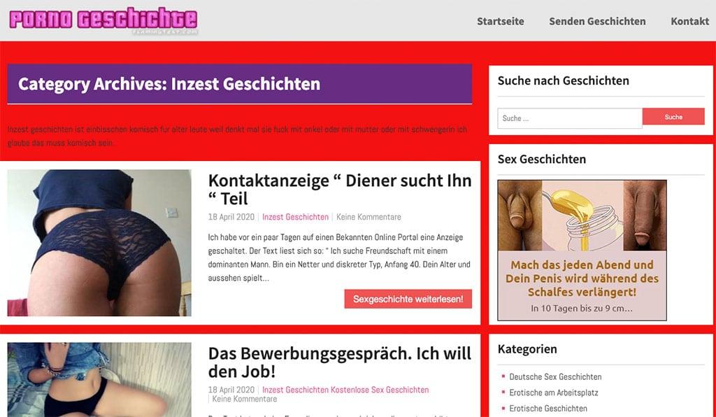 Gratis Inzest Sex Geschichten gibt es auch auf pornogeschichte.com