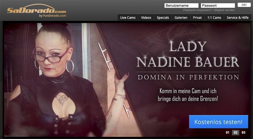 SaDorado ist deutschlands Flatrate Anbieter für Domina Cams und Online-Herrinnen
